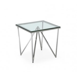 Modrest Newark Contemporary Glass End Table