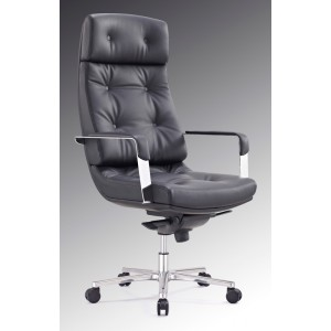 Modrest Forbes Modern Black High-Back Office Chair