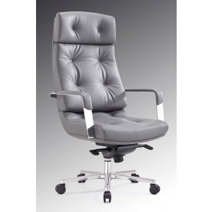 Modrest Forbes Modern Grey High-Back Office Chair