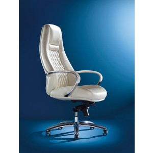 Modrest Rupert Modern White High-Back Office Chair