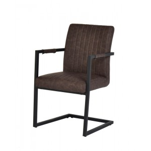 Modrest Marta Modern Brown Leatherette Dining Chair (Set of 2)