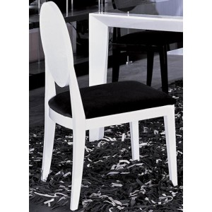 A&X Joss Modern White & Black Lacquer Chair