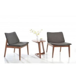 Jett - Modern Grey Fabric Accent Chair (Set of 2)
