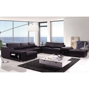 Divani Casa T270 - Modern Bonded Leather Sectional Sofa
