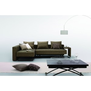 Divani Casa Olympic - Modern Fabric Sofa with Chaise