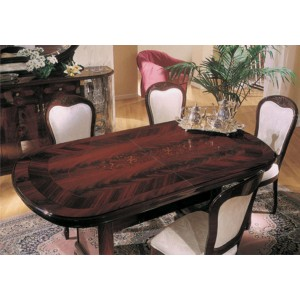 Flora Mahogany Traditional Dining Set