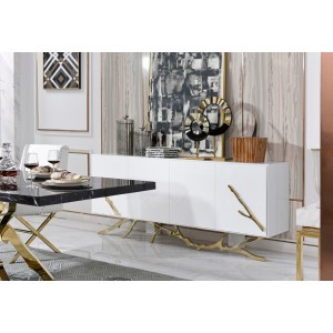 Modrest Legend Modern White & Gold Buffet