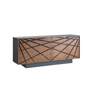 Modrest Spectra Contemporary Walnut & Grey Buffet