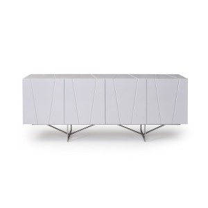 Modrest Chrysler Modern White High Gloss Buffet