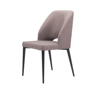 Modrest Fisher Modern Grey Fabric Dining Chair (Set of 2)