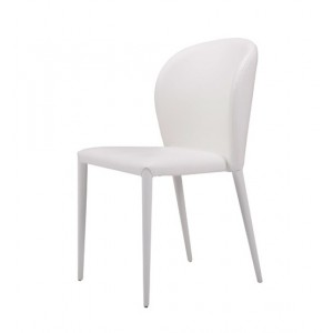 Modrest Maggie Modern White Leatherette Dining Chair (Set of 2)