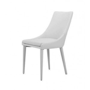 Modrest Lane Modern White Leatherette Dining Chair (Set of 2)