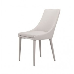 Modrest Lane Modern Grey Leatherette Dining Chair (Set of 2)