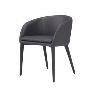Modrest Cavill Modern Black Leatherette Dining Chair