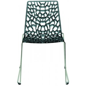 Modrest Groove - Modern Grey Italian Dining Chair