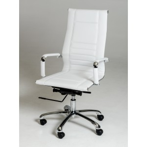 Modrest Harrison Modern White Leatherette Office Chair