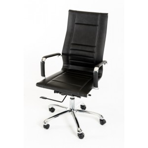 Modrest Harrison Modern Black Leatherette Office Chair