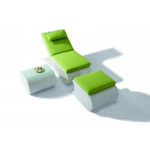 Renava H03 Sun Bathing Chaise with Foot Rest and Side Table