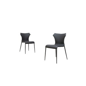 Modrest Marsha Modern Grey & Black Dining Chair