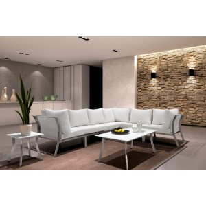 Renava Ibiza Outdoor White Sectional Sofa Set