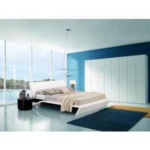 Modrest Orca - Contemporary Eastern King Platform Bed with Lights