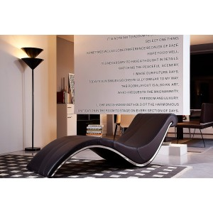 Divani Casa Essen Modern Brown Leather Lounge Chaise