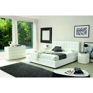 SMA Live - Made in Italy Leather Bed