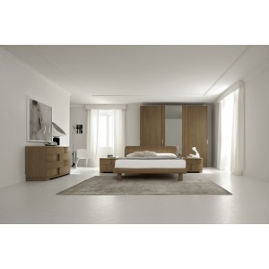 SMA Trendy Cognac - Contemporary Italian Bed with Lights