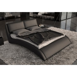 Modrest Volo - Modern Eco-Leather Bed with Curves