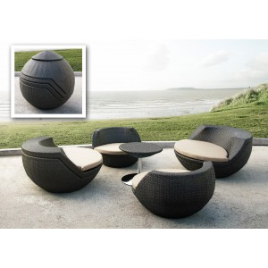 Renava Ovum - Modern Brown Egg Shaped Patio Set