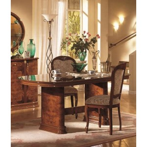 Flora - Walnut Dining Table with 6 Tibet Chairs