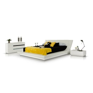 Modrest Polar - Modern White Bedroom Platform Bed