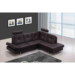 Divani Casa 973 - Modern Brown Leather Sectional Sofa