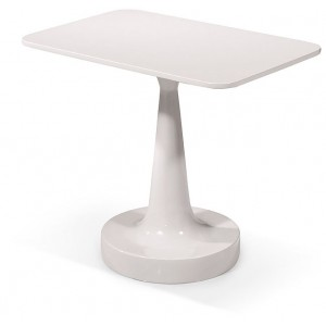 Modrest Pisa - Modern White End Table