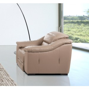 Divani Casa Camellia - Modern Power Reclining Leather Lounge Chair