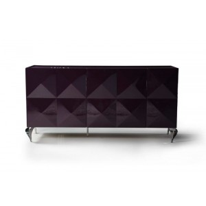 Versus Eva Purple Lacquer 3-Door Buffet