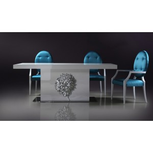 Versus Emma - White Lacquer Modern Dining Table