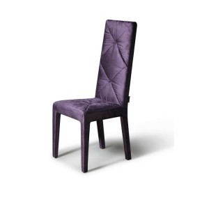 Versus - Eva Purple Fabric Chair (Set of 2)
