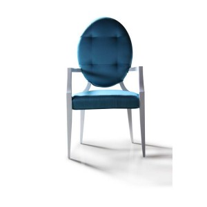 Versus Emma - Turquoise Fabric Dining Chair