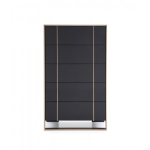 Nova Domus Cartier Modern Black & Brushed Bronze Chest