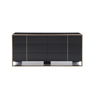 Nova Domus Cartier Modern Black & Brushed Bronze Dresser