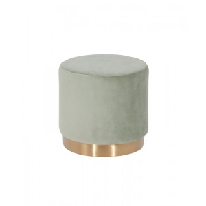 Modrest Santee Modern Grey Velvet & Gold Stool