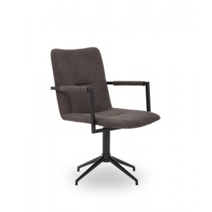 Modrest Pickett Modern Grey Fabric Dining Chair