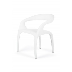Modrest Jaden Contemporary White Leatherette Dining Chair