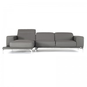 Divani Casa K8216 Modern Grey Eco-Leather Sectional Sofa