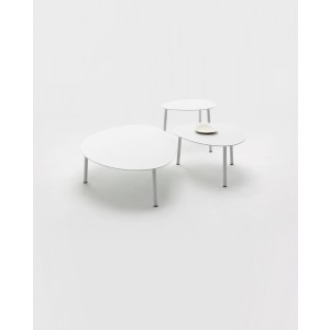Renava Kasos Outdoor White Coffee Table Set