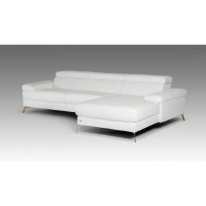 Divani Casa Kayla Modern White Italian Leather Sectional Sofa