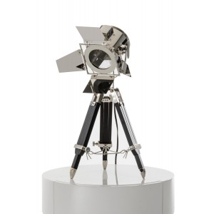 Modrest Avedon Chrome and Black Table Lamp