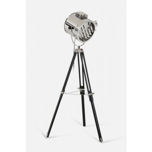 Modrest Annie Chrome and Black Floor Lamp