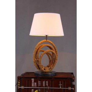 Modrest Bourke Modern Rope & Marble Table Lamp